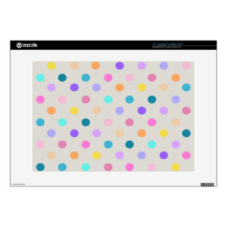 """light gray color dots print confetti skins decal 15"""" laptop skin"""