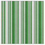 [ Thumbnail: Light Gray & Dark Green Colored Pattern Fabric ]