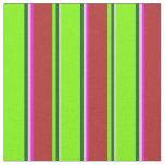 [ Thumbnail: Light Gray, Dark Green, Green, Red, and Fuchsia Fabric ]