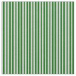 [ Thumbnail: Light Gray & Dark Green Stripes/Lines Pattern Fabric ]