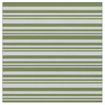 [ Thumbnail: Light Gray & Dark Olive Green Colored Pattern Fabric ]