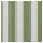 [ Thumbnail: Light Gray & Dark Olive Green Pattern Fabric ]