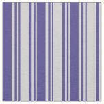 [ Thumbnail: Light Gray & Dark Slate Blue Lines Pattern Fabric ]