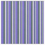 [ Thumbnail: Light Gray, Dark Slate Gray, and Slate Blue Lines Fabric ]