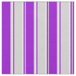 [ Thumbnail: Light Gray, Dark Violet, and White Pattern Fabric ]