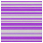 [ Thumbnail: Light Gray & Dark Violet Colored Striped Pattern Fabric ]