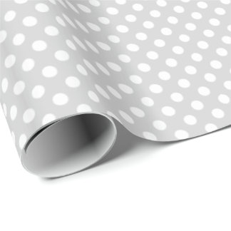 Light Gray Dots Option Wrapping Paper