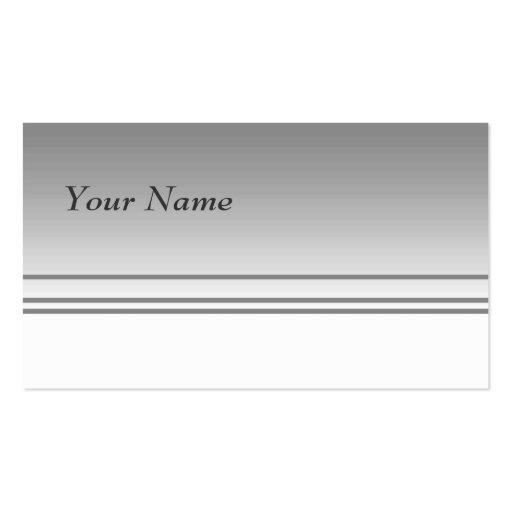 Light Gray. Elegant Design. Business Card
