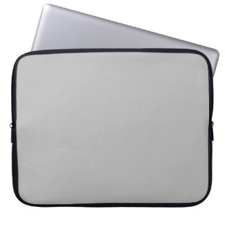 Light Gray Fashion Grey Color Trend 2014 Blank Laptop Computer Sleeves