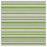 [ Thumbnail: Light Gray & Green Colored Lined/Striped Pattern Fabric ]