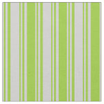 [ Thumbnail: Light Gray & Green Colored Lines Pattern Fabric ]