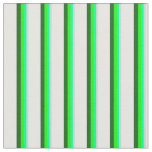 [ Thumbnail: Light Gray, Green, Lime, Dark Green & White Lines Fabric ]