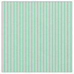 [ Thumbnail: Light Gray & Green Lined/Striped Pattern Fabric ]