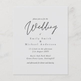 Light Gray Grey Script Typography Budget Wedding