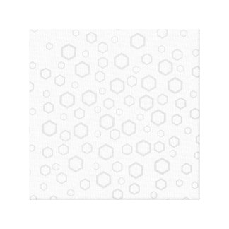 Light Gray Hexagon Outlines. Pattern. Gallery Wrap Canvas