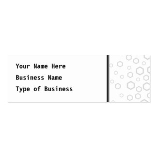 Light Gray Hexagon Outlines. Pattern. Mini Business Card