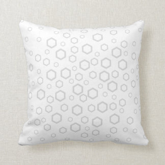 Light Gray Hexagon Outlines. Pattern. Throw Pillow