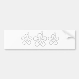 light gray hibiscus bumper stickers