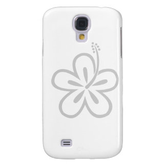 light gray hibiscus samsung galaxy s4 covers