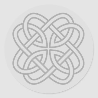 Light Gray Irish Celtic Love Knot Envelope Seals Classic Round Sticker