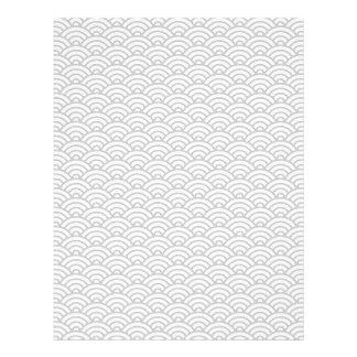 Light gray Japanese wave pattern scrapbook paper