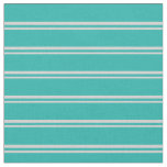 [ Thumbnail: Light Gray & Light Sea Green Colored Lines Fabric ]