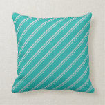 [ Thumbnail: Light Gray & Light Sea Green Colored Lines Pillow ]