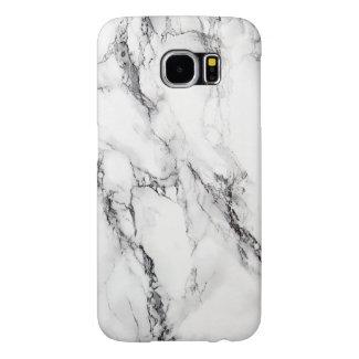 Light Gray Marble Stone Black Grain Samsung Galaxy S6 Cases