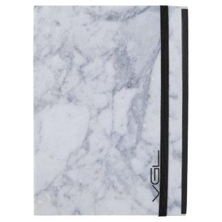 Light Gray Marble Stone Pattern iPad Pro Case