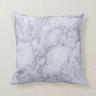 Light Gray Marble Stone Pattern Throw Pillow