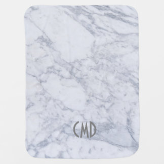 Light Gray Marble Texture Baby Blanket