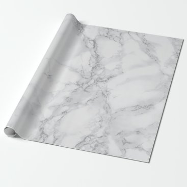 DesignsbyDonnaSiggy Light Gray Marble Texture Look Wrapping Paper