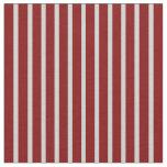 [ Thumbnail: Light Gray & Maroon Colored Stripes Fabric ]