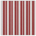[ Thumbnail: Light Gray & Maroon Lined Pattern Fabric ]