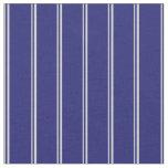 [ Thumbnail: Light Gray & Midnight Blue Stripes/Lines Pattern Fabric ]
