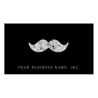 Light Gray Mustache (letterpress style) Business Card
