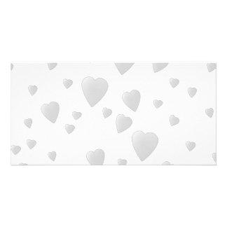 Light Gray Pattern of Love Hearts. Card