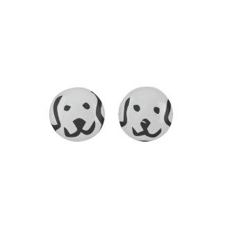 LIGHT GRAY Puppy Dog Earrings