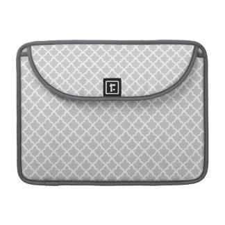 Light Gray Quatrefoil MacBook Pro Sleeve