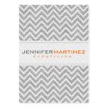 Light Gray Retro Chevron Pattern Linen Texture 3 Business Cards