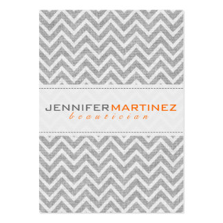 Light Gray Retro Chevron Pattern Linen Texture 3 Large Business Cards (Pack Of 100)