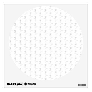 Light Gray Rose Pattern on White. Wall Decal