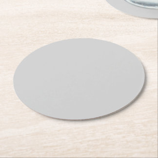 Light Gray Round Paper Coaster