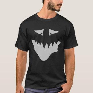 Light Gray Scary Face. Monster. T-Shirt