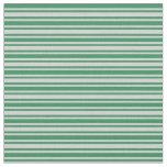 [ Thumbnail: Light Gray & Sea Green Lines Fabric ]
