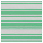 [ Thumbnail: Light Gray & Sea Green Pattern Fabric ]
