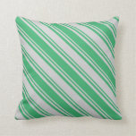 [ Thumbnail: Light Gray & Sea Green Pattern Throw Pillow ]