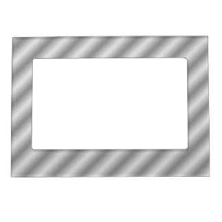 Light Gray  Shades Patterns Sparkles Borders Magnetic Picture Frame