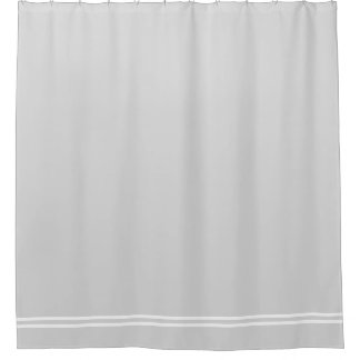 Light Gray shower curtain double line border Shower Curtains  Zazzle