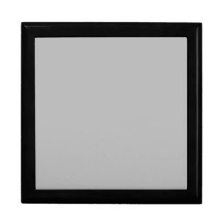 Light Gray Silver Grey Color Trend Blank Template Keepsake Boxes